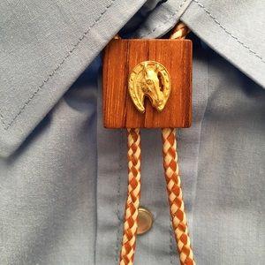 Vintage Lucky Horse Cowboy Western Bolo Tie